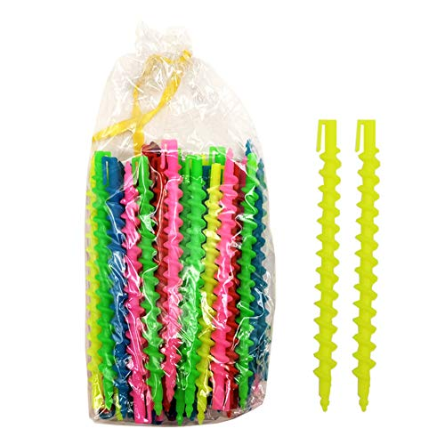 Yiwa 1 Tasche Kunststoff Hair Wave Curls Lockenwickler Magical beheizt Free Spiral Roller Hair Styling Beauty Tool