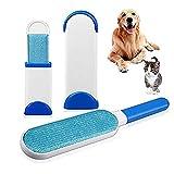Pet Pinsel,Tierhaarentferner Tierhaarbürste Fusselbürste selbstreinigender Tierhaarentferner Bürste Selbsreinigend Gründliche Reinigung für Kleidung (blau)