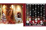 COSORO 3Pack 60x90cm Pegatinas de Pared de Bricolaje navideñas - Árbol de Navidad y Navidad Pegatinas de Pared de Bolas de Nieve extraíbles Murales para Pared Ventana Pegatinas de Navidad Decoración