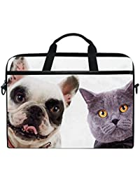 JSTEL - Bolso bandolera para gatos y perros, para portátil de 14 a 15,