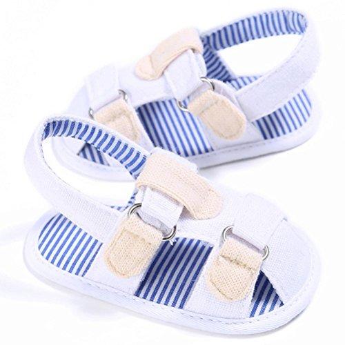 kingko® Baby Kleinkind Segeltuch Jungen nette weiche weiche alleinige Schuh Sandelholze Weiß