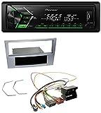 caraudio24 Pioneer MVH-S100UBG USB MP3 1DIN Aux Autoradio für Opel Astra H Zafira B Corsa D ab 2005 Matt-Chrom