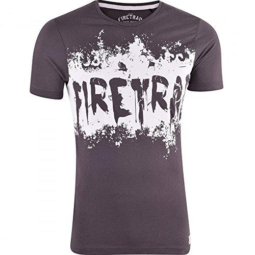Firetrap Herren T-Shirt Raven