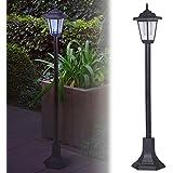 Lámpara de jardín que funciona con energía solar, farola LED exterior, para el acceso vehicular, entrada de la casa., negro