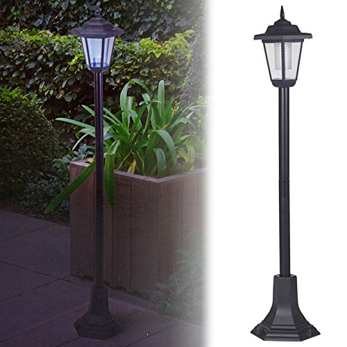 Garden Lamp That Works with Solar Energy, Outdoor LED Street Lamp, for Vehicle Access, House Entrance, Black