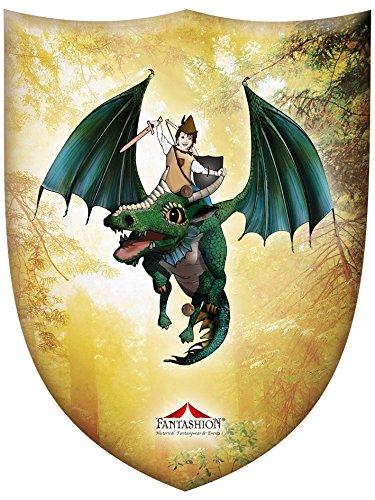 Fantashion F 98 - Ritter-Schild, Jona mit dem Drache, Verkleiden und Kostüm, Gold (Gold Drachen Kostüm)