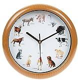 Bauernhof Hof Tier Uhr mit Geräuschen Eingeschlossen Schwein, Kuh, Hund, Pferd und vieles mehr