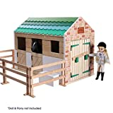 Lottie Playset Stable, made with wood and child friendly colours to play dolls | Best fun gift for empowering kids ages 3 & up