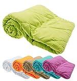 Haus und Deko Leichtsteppbett Decke Klimafaser 135x200 cm antiallergisch Bettdecke Steppbett #1528 (orange)