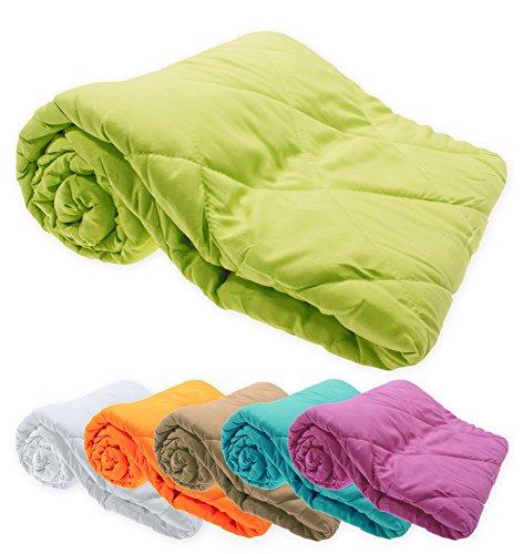 Leichtsteppbett Decke Klimafaser 135x200 cm antiallergisch Bettdecke Steppbett #1528 (orange)