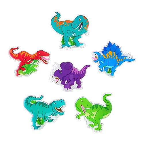 Euone Kühlschrank-Magnete, Aufkleber, 6 Stück, 3D-Cartoon-Dinosaurier-Kühlschrankmagnet, für Küchenspinds