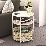 MEILING moderne einfache kreative mobile kleine Couchtisch einfach Doppel Runde weiße Tuch Blumen Mini Wohnzimmer Sofa Seite ein paar Schränke Ecke ein paar Beistelltisch
