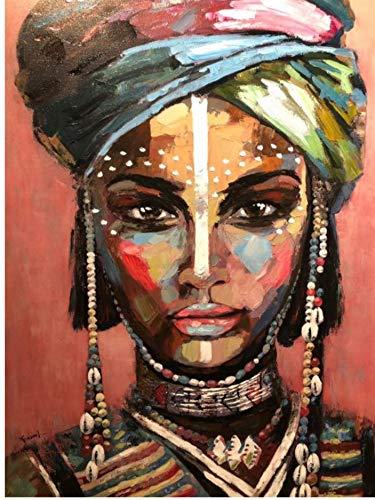 ELAFI® Poster DIN A3 | Boho Deko | Dekoration fürs Wohnzimmer oder Büro | Dekoposter, Geschenk, Kunstdruck | Ethno Stil Afrika | Frauenportrait