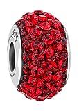 Nenalina Crystal Bead rot in 925 Sterling Silber, auch kompatibel für Pandora Beads Armbänder, 718072-010