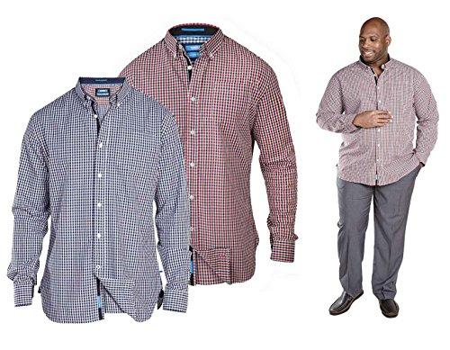 D555 -  Camicia Casual  - Basic - Maniche lunghe  - Uomo Red XXXX-Large