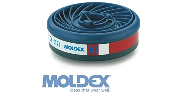 MOLDEX 9100 A1 Organic Gas Filters 9000 Mask by Moldex 7000 Cartridges 1 Pair