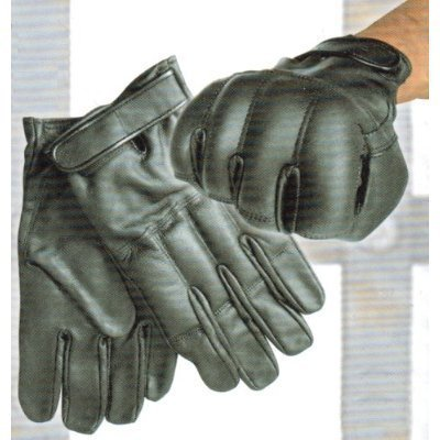 Bleistaubhandschuhe aus Rindsleder Security Handschuhe Damen fingerlos Bekleidung