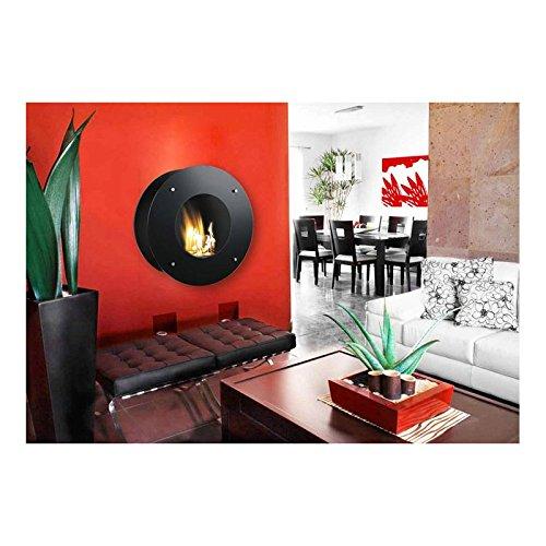GMR Trading Calatrava Interior Wall-mountable Fireplace Bioetanol Negro - Chimenea 600 mm, 204 mm...