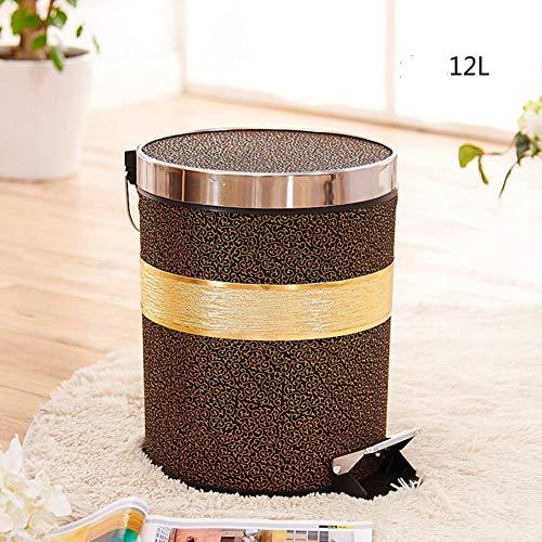 XFF Schritt Mülleimer Abfalleimer mit Deckel für Küchen Bad Office-I/O (Office-kuchen-deckel)