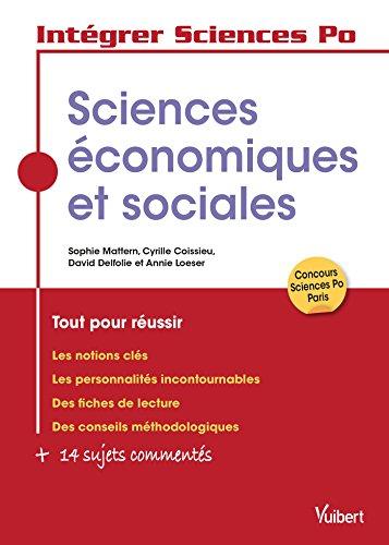 Les sciences conomiques et sociales  Sciences Po