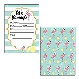 Made by Nami 12 x Einladungskarten im Set für Jeden Anlass / Flamingo Design / Einladung Geburtstag / Party / Einweihung / Feier / Geburtstagseinladungen Din A6 Kartenset (Ohne Umschläge)