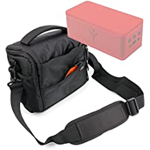 DURAGADGET Bolso Con Compartimentos Para Altavoz Portátil ALTEC LANSING Mini H20 II / Gaosa 10261559 / Grundig GSB200G / RYGHT Party Rock - Con Asa Regulable - Alta Calidad