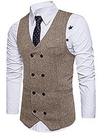 Leisure Homme Gilet Costume Veste Slim Fit sans Manches Business Mariage M-XXL