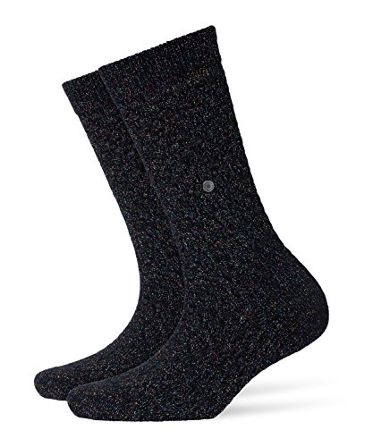 Burlington Damen Socken Boot Lurex Blickdicht, Mehrfarbig (Black 3002) 36/41 (One Size)
