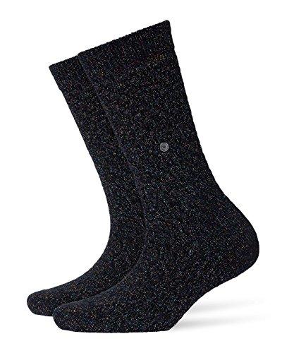 Burlington Damen Socken Boot Lurex Blickdicht, Mehrfarbig (Black 3002) 36/41 (One Size)
