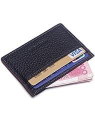 Teemzone Billetera Mágica Efectivo de Tarjetero para Tarjeta de Crédito Delgada Mini-Tarjetero Funda de Tarjeta de Banco de Piel