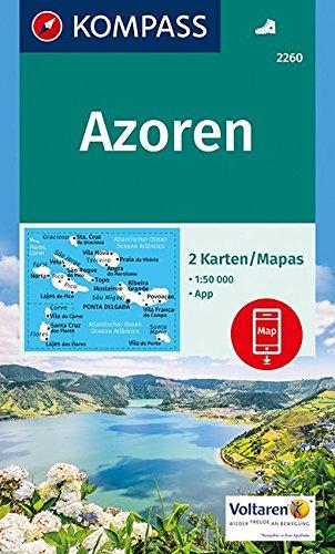 Preisvergleich Produktbild Azoren: 2 Wanderkarten 1:50000 im Set inklusive Karte zur offline Verwendung in der KOMPASS-App. (KOMPASS-Wanderkarten, Band 2260)