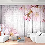 Fototapete Blumen Rosa 396 x 280 cm Vlies Wand Tapete Wohnzimmer Schlafzimmer Büro Flur Dekoration Wandbilder XXL Moderne Wanddeko Flower 100% MADE IN GERMANY - Runa Tapeten 9118012a
