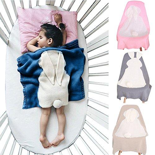Niedlich Wrap Swaddle Decke, Oenbopo-Kleinkind-Baby-Kind-reizendes Kaninchen-weiche warme strickte Decke Schlafende Swaddle-Kinderbett-Krippe-Verpackungs-Steppdecke 75cmx98cm (Niedliche Decke)