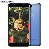 Smartphone in Offerta, Blackview P2 Lite 4G Android 7.0 Dual SIM Telefoni Cellulari, 5.5 pollici FHD schermo, 3GB RAM + 32GB ROM, fotocamera 13MP, batteria 6000mAh, Fingerprint, blu