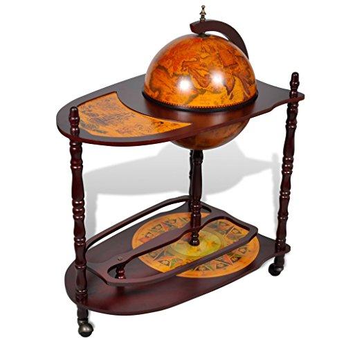 Anself Globusbar Minibar Hausbar mit Tischplatte und Rollen