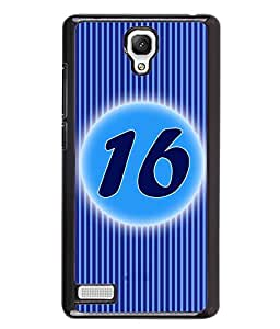 Fuson 2D Printed Numerology Designer back case cover for Xiaomi Redmi Note 4G - D4234