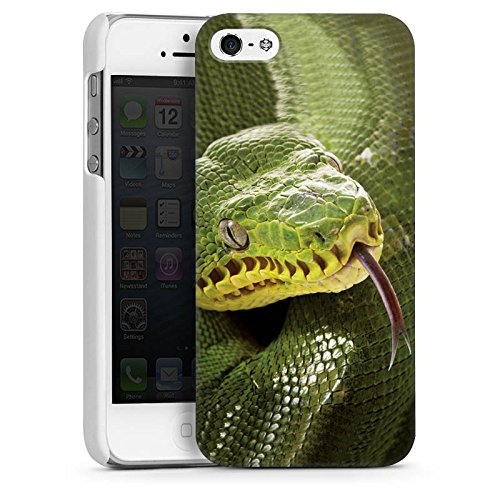 Apple iPhone 4 Housse Étui Silicone Coque Protection Couleuvre Serpent Serpent CasDur blanc