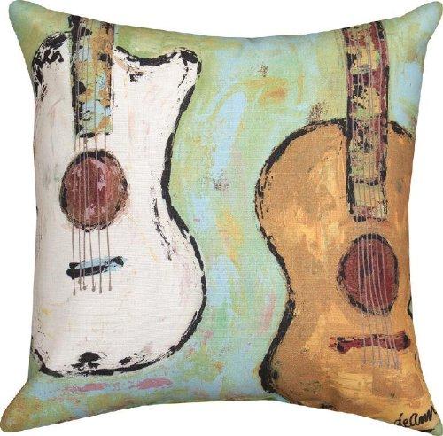 Imagen de cuerdas de  acústica impresión en/al aire libre manta decorativa almohada 18en. x18in.