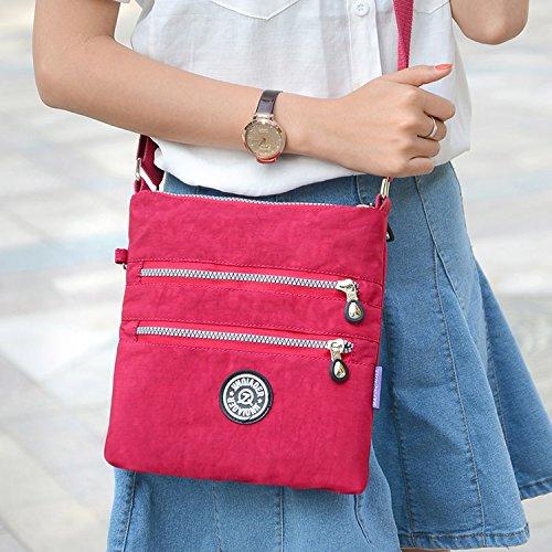 Outreo Umhängetasche Damen Schultertasche Leichter Messenger Bag Reisetasche Wasserdicht Taschen Designer Kuriertasche Mode Sporttasche für Mädchen - 2