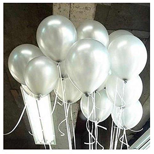 SHINAN 100 Stück 25,4 cm bunte Perlen Latex Ballon Feier Party Hochzeit Geburtstag H silber