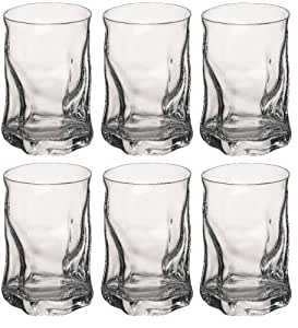 Bormioli Rocco Sorgente Whisky Tumbler Glasses - 300ml (10.5oz) - Set of 6