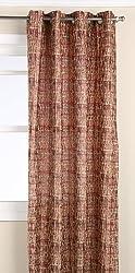 Editex Home Textiles Barbara Window Panel, 52 by 63-Inch, Burgundy