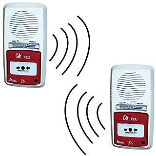 Pack von 2 Alarme Typ 4 Radio Sound und Lichtsignal