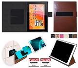 Hülle für Medion Lifetab S10346 (MD 98992) Tasche Cover Case Bumper | in Braun Leder | Testsieger
