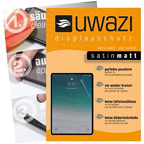 uwazi I 3X Satin-Matte Schutzfolie für Apple iPad Pro 11 Zoll (2018) Displayschutzfolie I Folie I Anti Fingerabdruck I Anti Kratzer Apple-satin