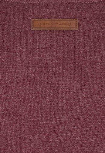 Naketano Male T-Shirt Gelinde Gesagt Bordeaux Melange