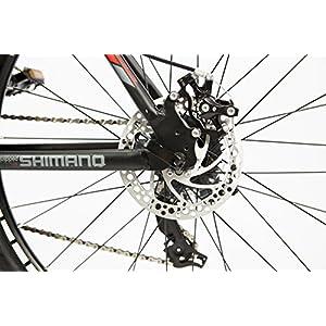 "Moma Bikes Bicicleta Montaña Mountainbike 26"" BTT SHIMANO 24 vel. Aluminio, frenos de disco y suspension, L (1,70-1,79m)"