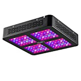 Niello® 600W LED Pflanzenlampe Optical Lense Series LED Grow Light Dual Full Spectrum Wachsen mit 2 Schalter für Zimmerpflanzen Gemüse und Blumen
