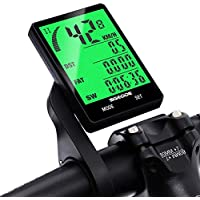SGODDE Bike Computer, Wireless Waterproof Bicycle Speedometer Cycle Odometer, Automatic Wake-up 24 Function Cycling Computers, User A/B Full screen Backlight LCD Display, Cycling Accessories Outdoor