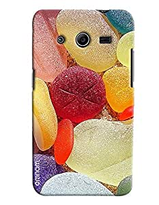 Omnam Colorfull Jelly Printed Designer Back Cover Case For Samsung Galaxy Core 2